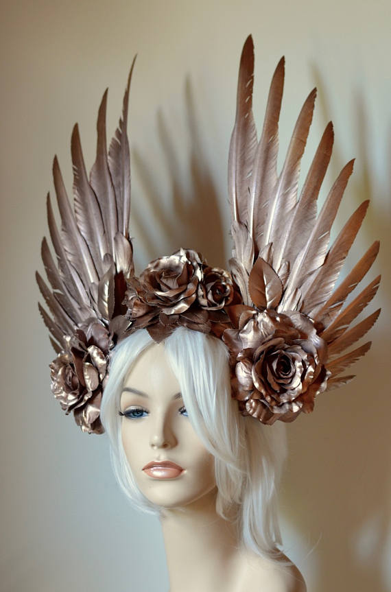 Rose Gold Goddess Headdress Front Ka Amorastreya